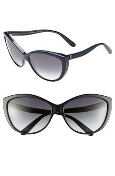 Alexander McQueen Two Tone Cats Eye Sunglasses available at #Nordstrom