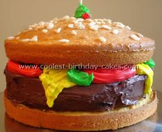Hamburger Cake...making this for my dad  for fathers day :)