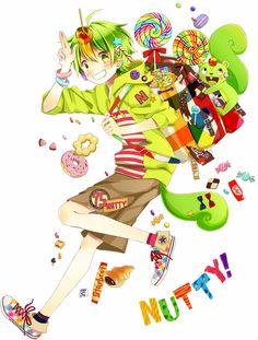 anime heterochromia / odd eyes black yellow (Nutty happy tree friends)