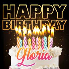 happy birthday gloria flowers - Google Search Bild Happy Birthday, Happy Birthday Gloria, Happy First Birthday, Happy Birthday Images, Birthday Pictures, First Birthdays, Birthday Cake Gif, Birthday Wishes With Name, Birthday Favors