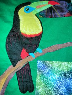 Note the quilting on the bird, very effective and not over stitched