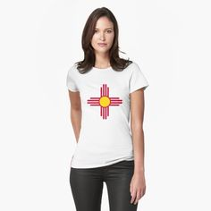 """""""New Mexico Flag Symbol Patriotic Red Sun"""" T-shirt by ArgosDesigns 