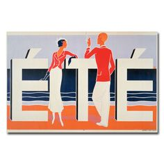 Ete, 1925 Vintage Advertisement on Wrapped Canvas