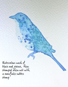 watercolor stencil tutorial easy technique lovely results