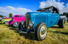 32, ford, roadster,grass, blue sky, customikes, K. Mikael Wallin, hot rods, clouds, NSRA UK