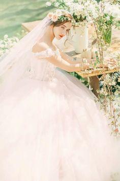 Sheer Wedding Dress, Luxury Wedding Dress, Bridal Wedding Dresses, Dream Wedding, Wedding Styles, Wedding Photos, Fairytale Fashion, Bride Photography, Beautiful Dresses