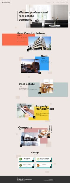 Web designer based in Tokyo. Book Design Layout, Web Layout, Page Design, Design Layouts, Design Your Own Website, Property Design, Marca Personal, Website Layout, Real Estate Companies
