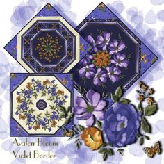 Violets Border by Timeless Treasures Kaleidoscope Quilt Blocks #KaleidoscopeQuilt #Quilting #TimelessTreasuresFabric