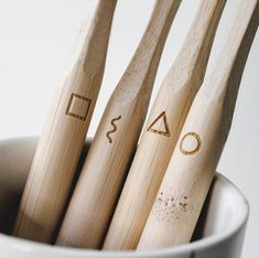 Not long now until our bamboo toothbrushes are in stock. We designed each toothbrush with a little symbol so you know which one is yours. 🌿 I hope you will like them and thank you all for your support, you made it happen. Laundry Pegs, Wool Dryer Balls, Which One Are You, Beeswax Candles, Drying Herbs, Together We Can, Natural Living, Bamboo, Shit Happens