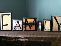 family home decor wood word blocks letter sign by heidi32many 3000