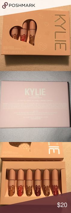 Kylie Jenner birthday collection lip kit THE BIRTHDAY COLLECTION   MINI KIT VELVET LIQUID LIPSTICKS. I received these from a friend and there is a small tear in the packaging but all the lipsticks were never touched. All in brand new condition Kylie Cosmetics Makeup Lipstick