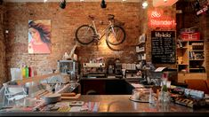 Standert Shop & Café · Invalidenstraße 157 · 10115 Berlin; coffee and bike shop in one. Repair and assembly of bikes + homemade popsicles, the Super Pops, during summer.