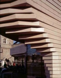 Image result for stacked timber pavilion