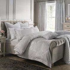 Dorma Floral Luxurious Grey Palais Single Duvet Cover