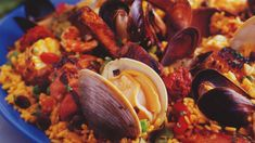 This Southwestern barbecue paella will be well worth the labor of love when you sit down to the table. Get this entree recipe at PBS Food. Entree Recipes, Mexican Food Recipes, Ethnic Recipes, Marinated Chicken Thighs, Pbs Food, Paella Recipe, Stuffed Mushrooms, Stuffed Peppers, Beef Short Ribs