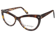 Make a bold statement with these Derek Cardigan 7005 Brown Tortoiseshell eyeglasses. The classic cat-eye style is pumped up and made bigger in brown tortoiseshell acetate.To help show off your geek p from @Coastal.com