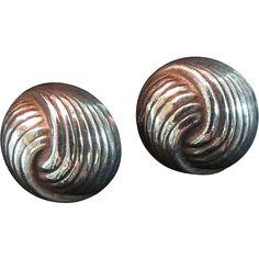 Vintage Sterling Silver Love Knot Earrings for Pierced Ears