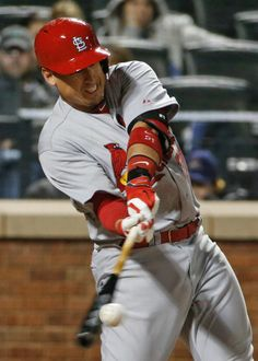 Allen Craig hits an eighth-inning ground rule double in a game against the New York Mets. Cards lost 2-0. 4-21-14
