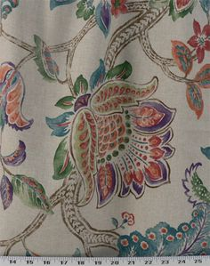 Garden Retreat Peacock | Online Discount Drapery Fabrics and Upholstery Fabric Superstore!