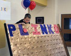 plinko board how to make Plinko Board, Carnival Ideas, Boards, Superhero, Party, How To Make, Shopping, Sup Boards, Fiesta Party
