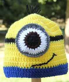 Minion Crochet Hat by MerysLittleCreations on Etsy