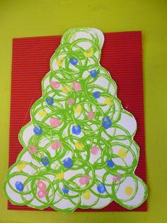 * Kerstboom stempelen...
