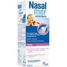 Comprar Spray Nasal Hipertónico Junior Nasalmer 125 ml 24m+ - Nasalmer by…