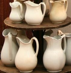 Ironstone pitchers by alyce
