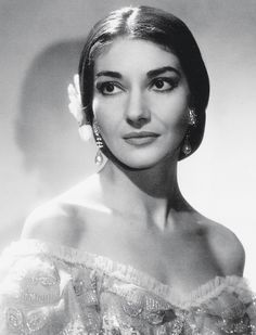 MARIA CALLAS (1923-1977) American-born soprano of Greek descent. Widely praised for her bel canto technique.