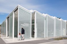 Inside the new Christchurch Botanic Gardens Visitor Centre, the spaces are white, light and ethereal.