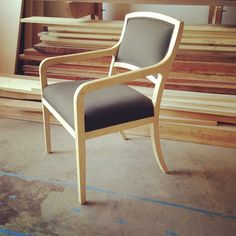 Contemporary chair in maple by Black Canyon Woodworks.  Imagine all the beautiful furniture waiting to be discovered in that stack of lumber.  www.blackcanyonwoodworks.com