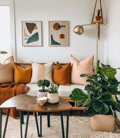 Lovely rust and blush, taupe and white room with gold accents. #home #livingroom #rust #trends