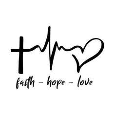 Tatoo Faith, Faith Hope Love Tattoo, Faith In Love, Hope Tattoo Symbol, Faith Tattoos, Couple Tattoos, Love Tattoos, Small Tattoos, Small Cross Tattoos