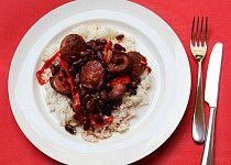 Špekáčky s červenými fazolemi Beef, Food, Meat, Essen, Meals, Yemek, Eten, Steak