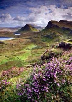 Views of Quiraing/North Skye (Photo by Angie Latham).Inspirational images for the film Brave - Isle of Skye, Scotland Oh The Places You'll Go, Places To Travel, Places To Visit, Moving Places, England And Scotland, Scotland Uk, Scotland Nature, Scotland Landscape, All Nature