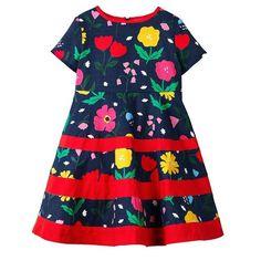 Dream Room Dresses Toddler Infant Kids Baby Girls Cozy Ruffles Sleeve Cartoon Princess Dress