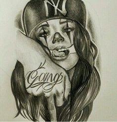 Resultado de imagen para chicano tattoo art and writing Chicano Art Tattoos, Chicano Drawings, Gangster Tattoos, Body Art Tattoos, Girl Tattoos, Prison Drawings, Tatoos, Arte Cholo, Cholo Art