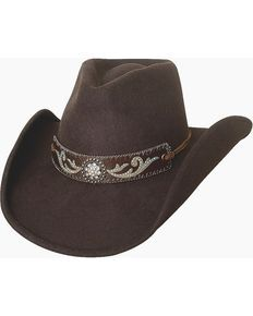 Bullhide Hangin Out Brown Wool Cowgirl Hat, Chocolate
