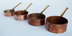 Vintage Hammered Copper Measuring Cups
