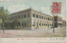 Estación del Ferrocarril de La Plata, año 1908 (actual Pasaje Dardo Rocha)