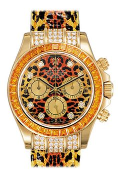 Rolex Daytona Leopard Dial and Strap Diamond and Sapphire Watch