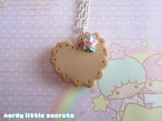 Sweet Lolita Heart Cookie Necklace by NerdyLittleSecrets on Etsy, $9.00    Made out of polymer clay!
