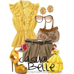 Casual Belle, created by disneyoutfits on Polyvore