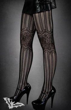 Goth:  Black Gothic Tights.