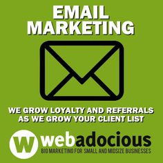 Email can build loyalty. Webadocious - Big Marketing for Small and Mid-size Businesses #MarketingTips