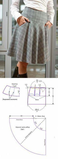 Plaid skirt..
