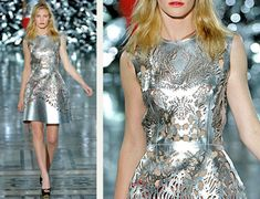 The Cutting Class | Laser Cut Silver Leather at Giles