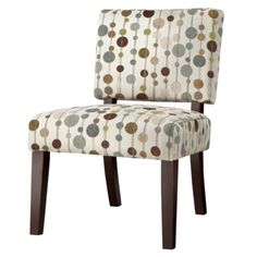 Vale Open Back Slipper Accent Chair-Bubbles. I love this fabric--it's so cheery and soothing at the same time.
