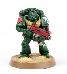 Tutorial: How to Paint Dark Angels Tactical Marines from Dark Vengeance - Tale of Painters