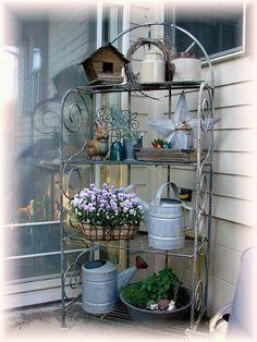 32 Best Bakers Rack Potting Bench Images Garden Art